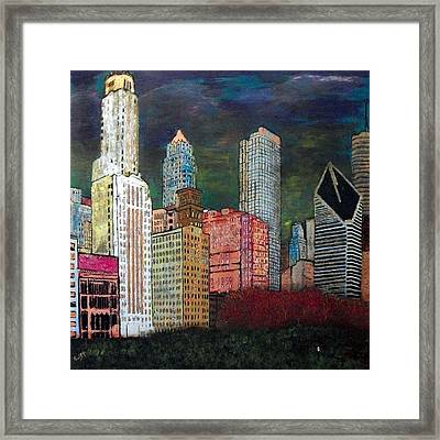 Chicago Cityscape Framed Print by Char Swift