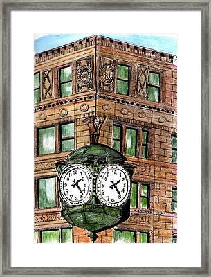 Chicago Clock Framed Print