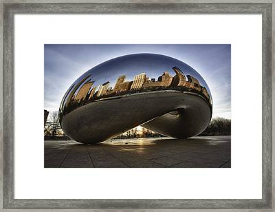Chicago Cloud Gate At Sunrise Framed Print