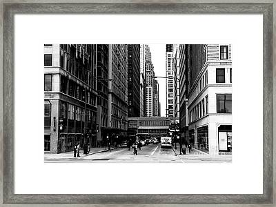 Chicago Crossing Framed Print by John Rizzuto