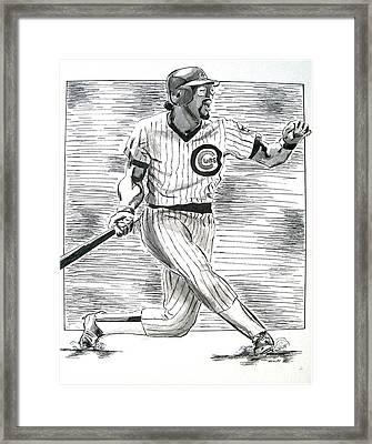 Chicago Cub Leon Durham Framed Print