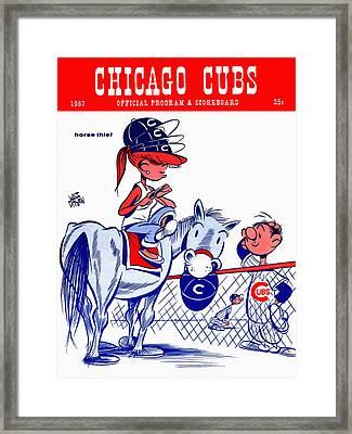 Chicago Cubs 1967 Scorecard Framed Print