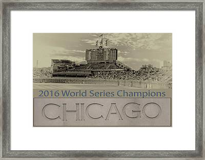 Chicago Cubs 2016 World Series Scoreboard Framed Print by Thomas Woolworth
