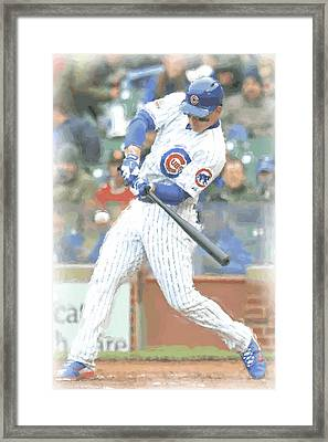 Chicago Cubs Anthony Rizzo Framed Print by Joe Hamilton