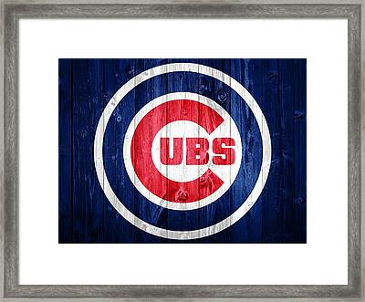 Chicago Cubs Barn Door Framed Print
