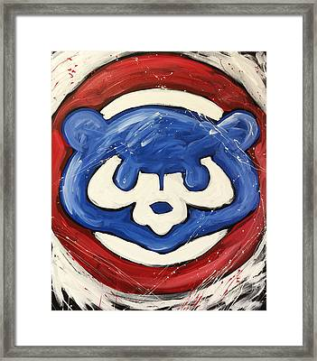 Chicago Cubs Framed Print by Elliott From