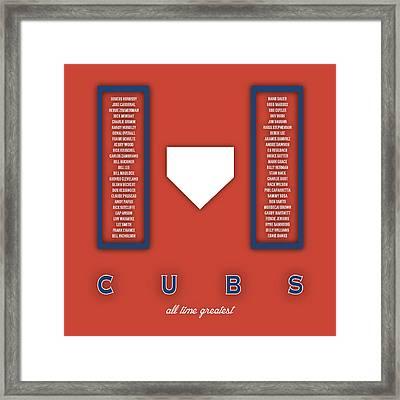 Chicago Cubs Art - Mlb Baseball Wall Print Framed Print