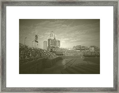 Chicago Cubs Original Scoreboard Vintage Framed Print by Thomas Woolworth