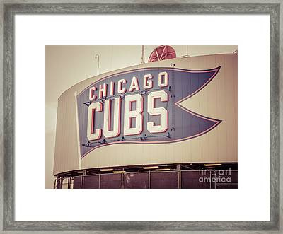 Chicago Cubs Sign Vintage Picture Framed Print