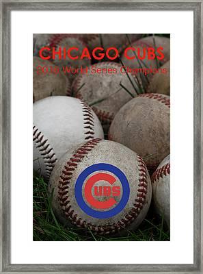 Chicago Cubs World Series Poster Framed Print