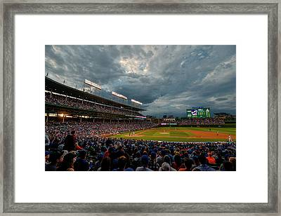 Chicago Cubs Wrigley Field 2 8287 Framed Print by David Haskett