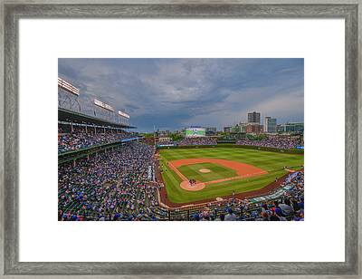 Chicago Cubs Wrigley Field 5 8228 Framed Print by David Haskett