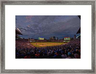 Chicago Cubs Wrigley Field 7 8321 Framed Print by David Haskett