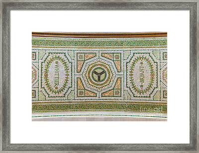 Chicago Cultural Center Ceiling With Y Symbol Framed Print