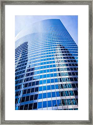 Chicago Curved Glass Building Architecture Framed Print by Paul Velgos