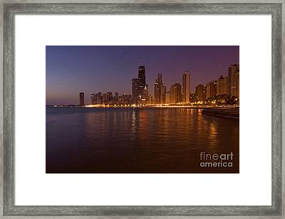 Chicago Dawn Framed Print by Sven Brogren
