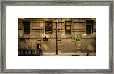 Chicago Dearborn Street Framed Print by Mike Burgquist