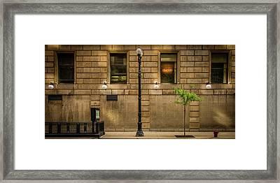 Chicago Dearborn Street Framed Print