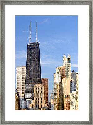 Chicago Downtown Framed Print by Dmitriy Margolin