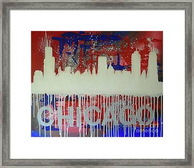 Chicago Drip Framed Print