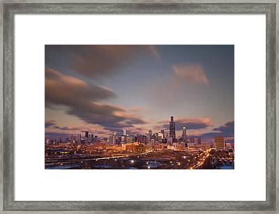Chicago Dusk Framed Print