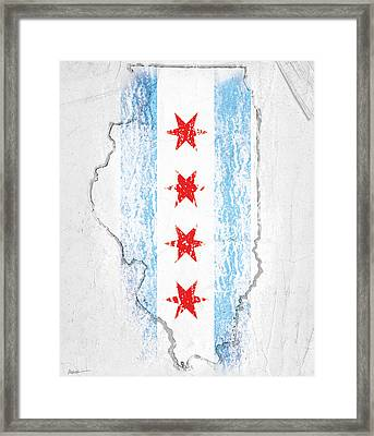 Chicago Flag Framed Print