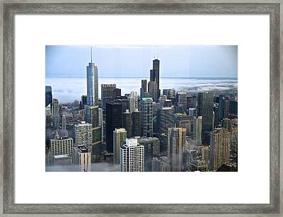 Chicago Fog Framed Print