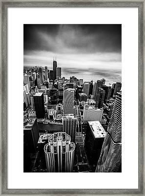 Chicago From Above Framed Print by Andrew Soundarajan