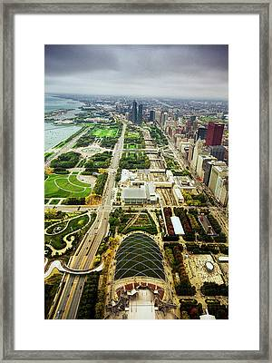Chicago From Atop Framed Print