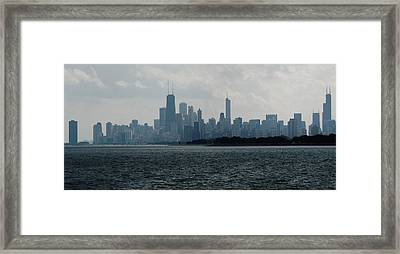 Chicago From Belmont Harbor Framed Print by Todd Sherlock