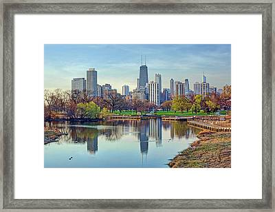 Chicago From Lincoln Park Framed Print