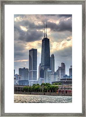 Chicago From The Pier Framed Print by Joshua Ball