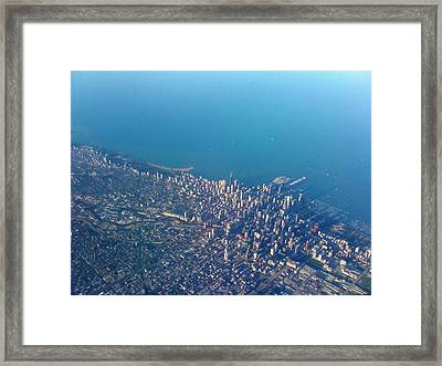 Chicago From Way Up Framed Print by Jacob Stempky