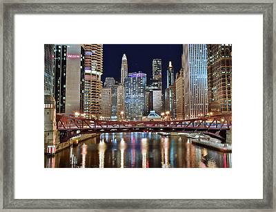 Chicago Full City View Framed Print by Frozen in Time Fine Art Photography