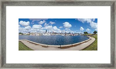 Chicago Harbor, Illinois Framed Print by Panoramic Images