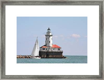 Chicago Harbor Lighthouse Framed Print by Christine Till
