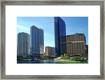 Chicago Heading Up The North River Branch Framed Print by Thomas Woolworth