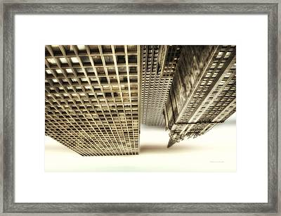 Chicago In November Church In The Clouds Pa Framed Print by Thomas Woolworth