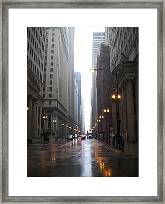 Chicago In The Rain 2 Framed Print