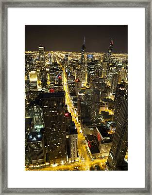 Framed Print featuring the photograph Chicago Is Always Alive by Shawn Everhart