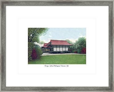 Chicago - Japanese Tea Houses - Jackson Park - 1912 Framed Print