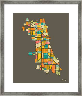 Chicago Framed Print by Jazzberry Blue
