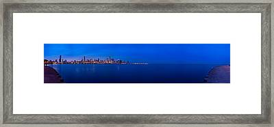 Chicago Lakefront Ultra Wide Hd Framed Print by Steve Gadomski