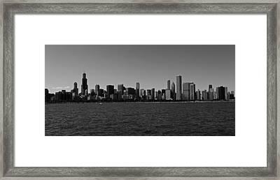 Chicago Lakeshore Skyline Framed Print by Miranda  Miranda