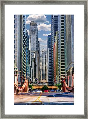 Chicago Lasalle Street Framed Print
