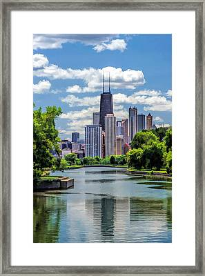 Chicago Lincoln Park Lagoon Framed Print