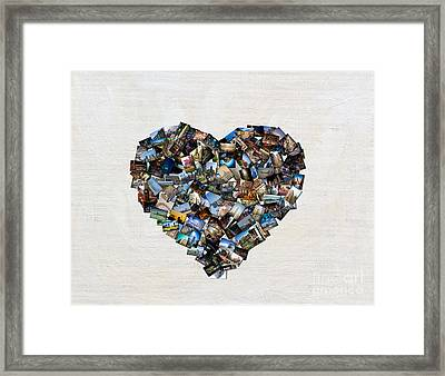 Chicago Love-horizontal No Type Framed Print by Linda Matlow
