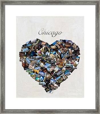 Chicago Love Framed Print by Linda Matlow