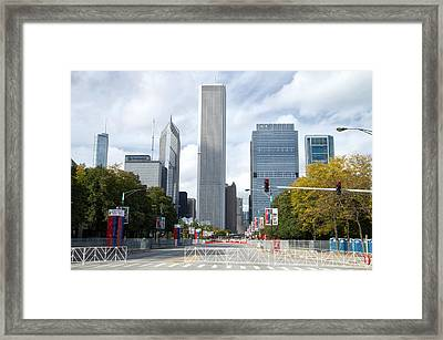 Chicago Marathon The Day Before 02 Framed Print by Thomas Woolworth