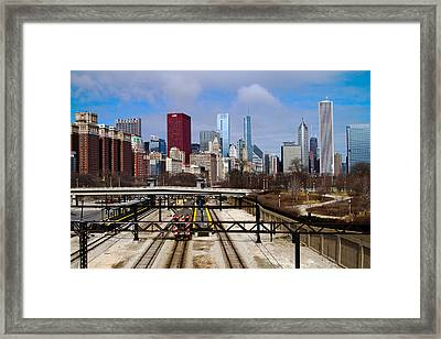 Chicago Metro Framed Print